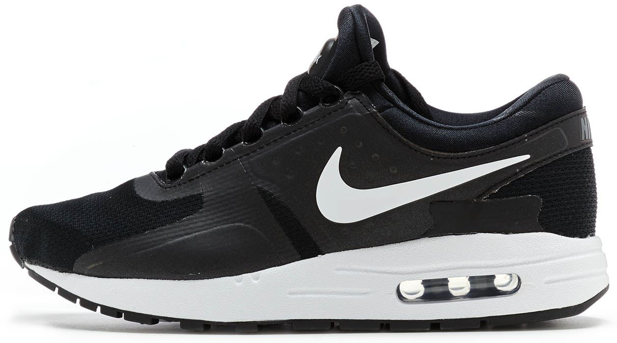 nike air max zero essential nero dark grey bianca