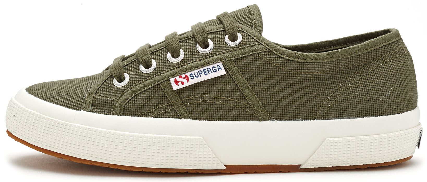 f5badd17f605b5 Superga 2750 Cotu Classic Canvas Shoes in White Taupe