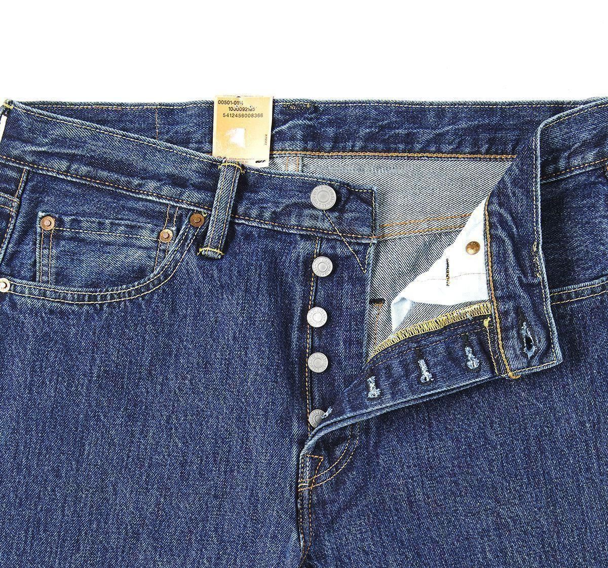 Levis 501 original fit classic straight leg button fly jeans | eBay