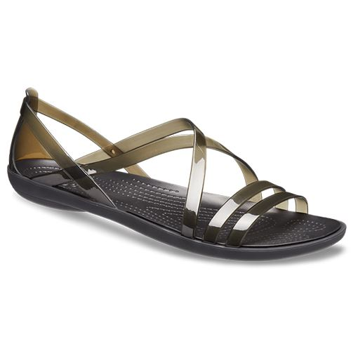 White Sandals Isabella Crocs Drew amp; Strappy Black Barrymore In Standard Fit r8qIxqT