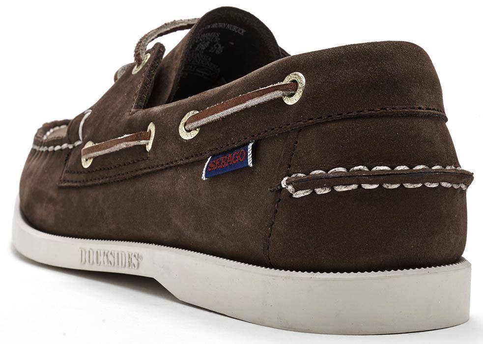 Sebago-Docksides-NBK-Suede-Boat-Deck-Shoes-in-Navy-Blue-amp-Coral-amp-Dark-Brown thumbnail 16