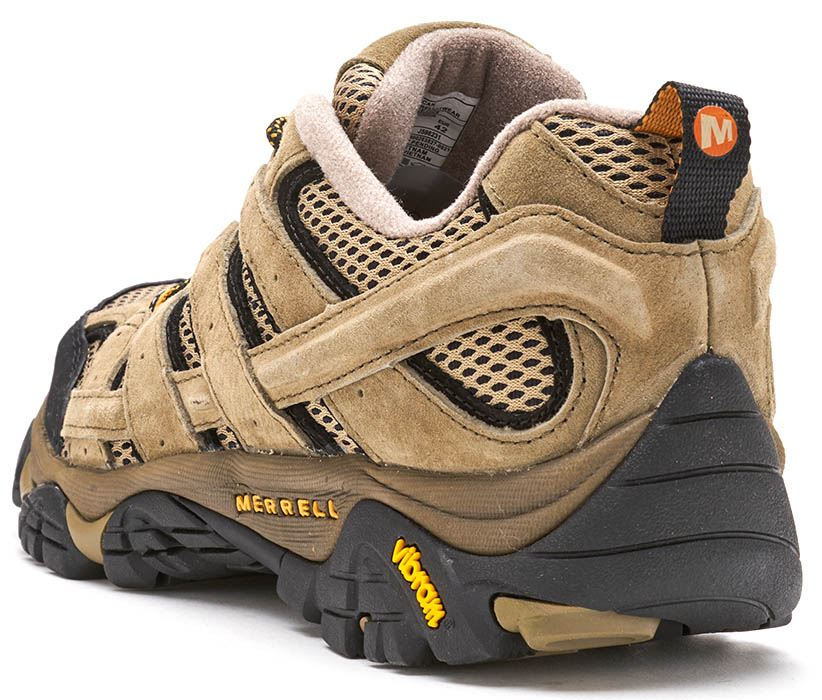 Details zu Merrell Moab 2 Mother Of All Stiefel Ventilator in Pekan Braun & Schwarz J598231
