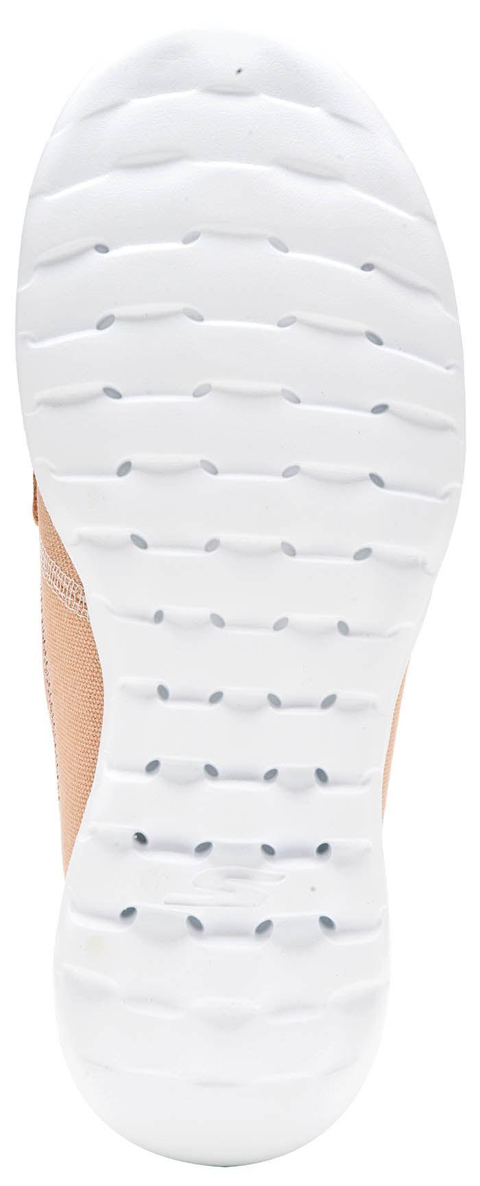 Skechers GOwalk Lite Coral 3 Ojo y Barco Cubierta Mujeres Entrenadores en Beige y Ojo Azul 15430 c13780