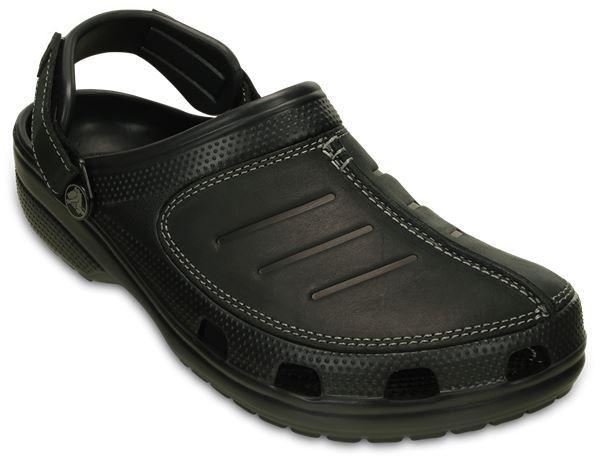 Crocs-Yukon-Mesa-Clog-Shoes-Sandals-in-Khaki-Espresso-Brown-amp-Navy-Blue-203261 thumbnail 4