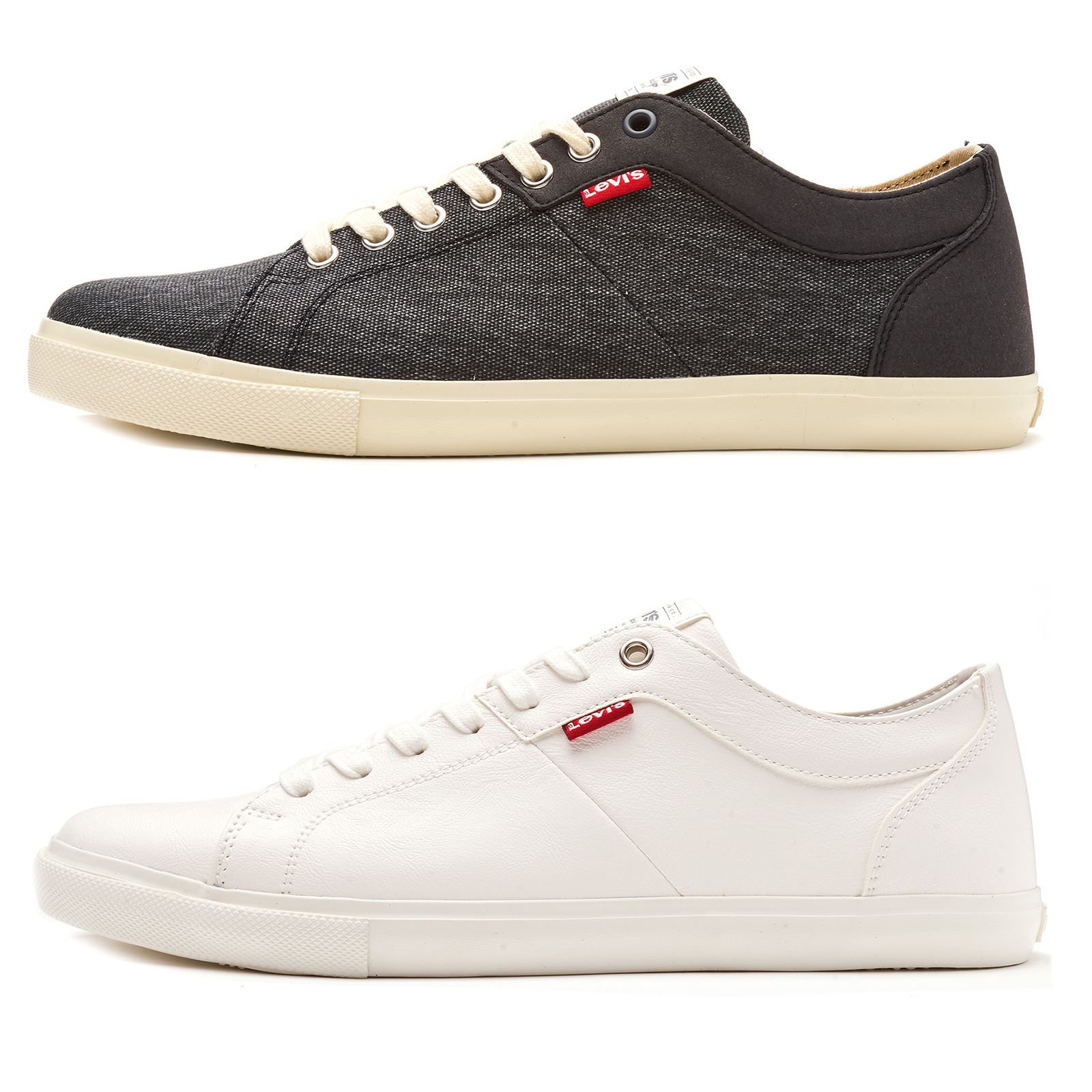 Levis Woods Canvas Red Tab Trainers in