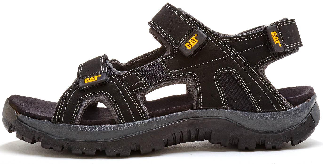 4dd4d9cf6 Caterpillar Giles CAT Leather Sandals in Black P716653