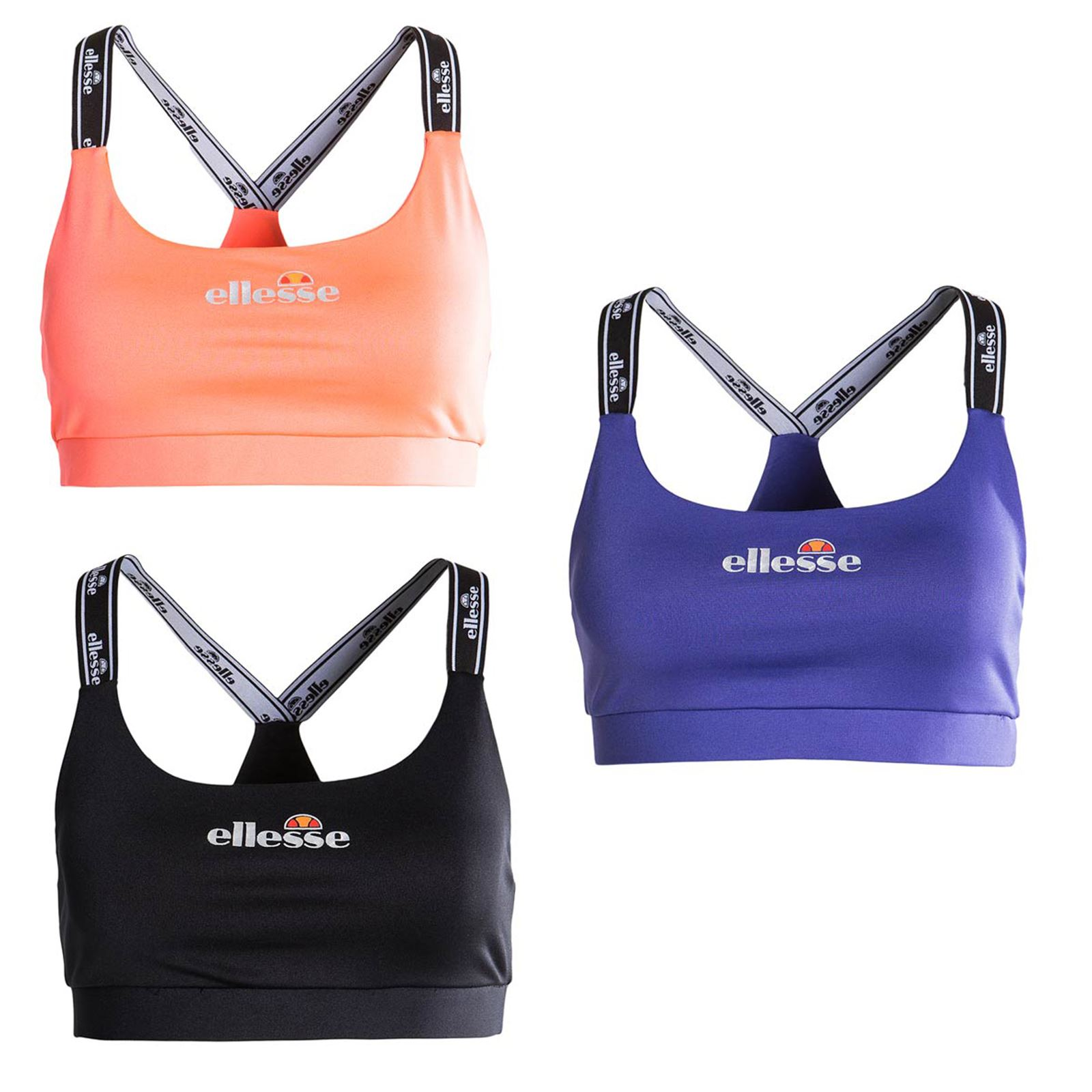 edb5abbe1f Details about Ellesse Juno Bra Top in Anthracite