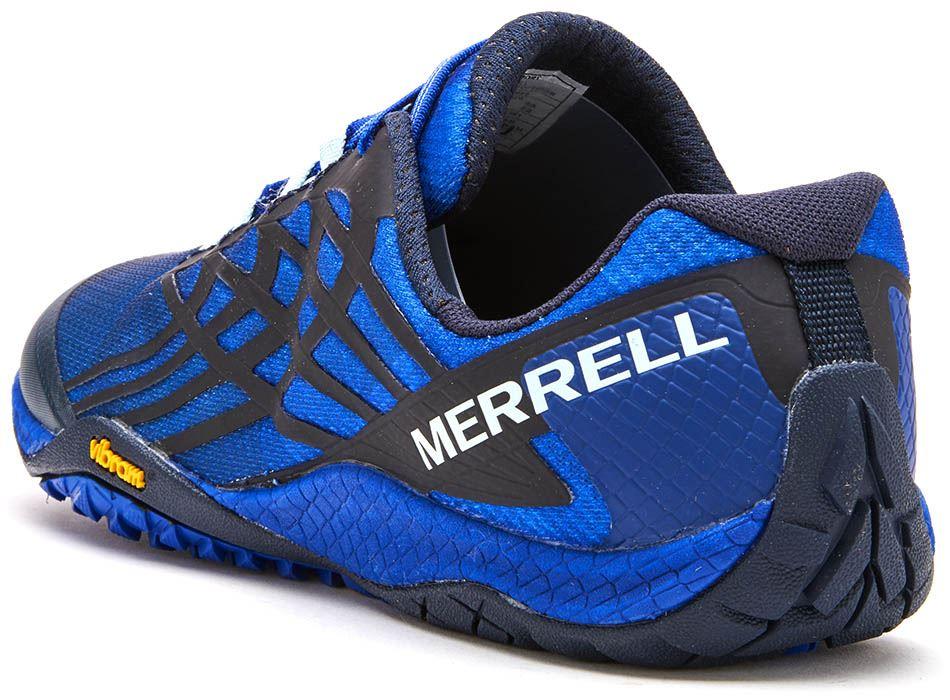 Merrell-Trail-Glove-4-entrenadores-en-Nautica-y-deporte-Azul-Molten-Lava-Rojo-Y-Naranja miniatura 4