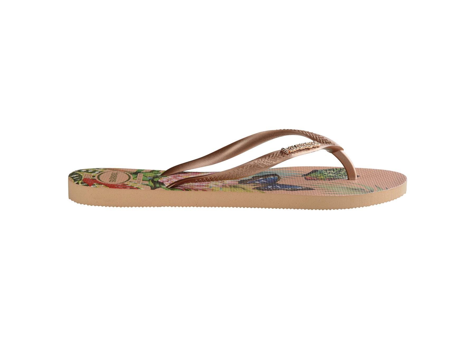 Havaianas-Slim-Tropical-amp-Imprime-Floral-Tongs-Ete-Plage-Piscine-Sandales miniature 11