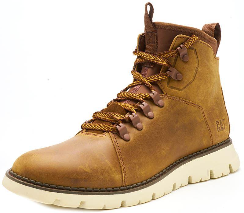 Caterpillar-CAT-Mitcham-Leather-Boots-in-Bronze-Brown-amp-Dark-Red thumbnail 3