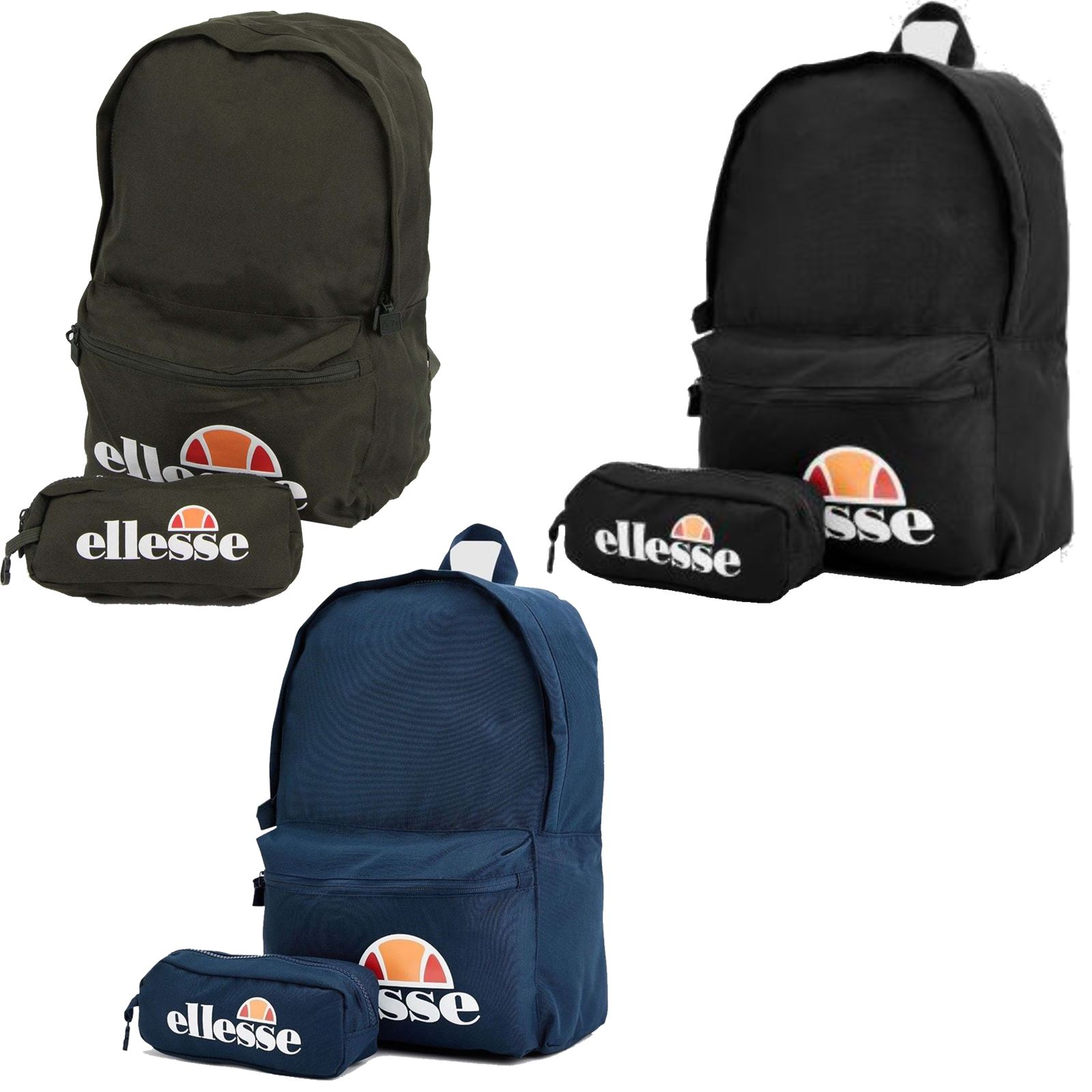 Details about Ellesse Rolby Backpack Back to School Bag Rucksack with Pencil  Case SAAY0591 2a204049b7