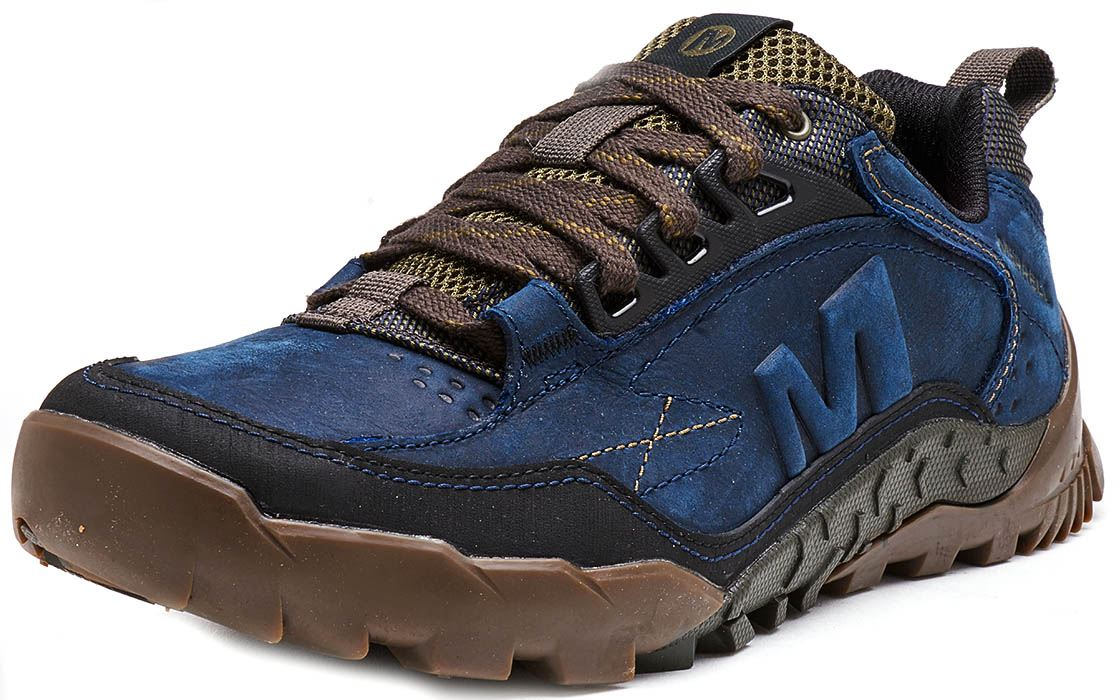 Merrell-Annex-Track-Low-Trainers-in-Cloudy-amp-Clay-Brown-amp-Sodalite-Blue thumbnail 15