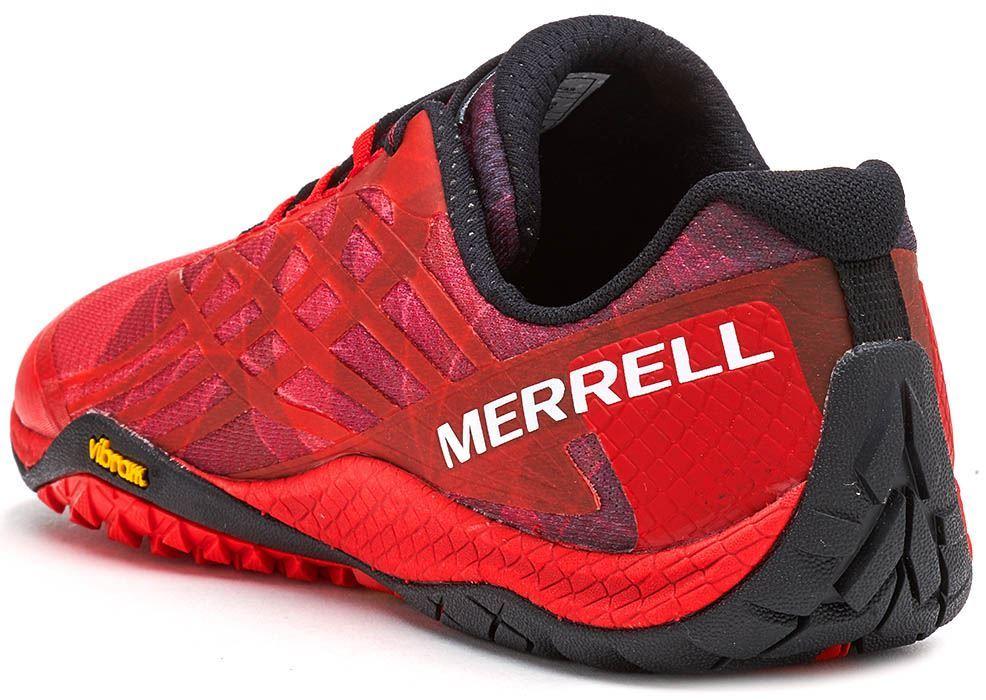 Merrell-Trail-Glove-4-entrenadores-en-Nautica-y-deporte-Azul-Molten-Lava-Rojo-Y-Naranja miniatura 8