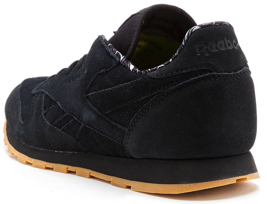 e30107bd31fd9 Reebok Classic Leather TDC GS Suede Trainers in Black BD5049