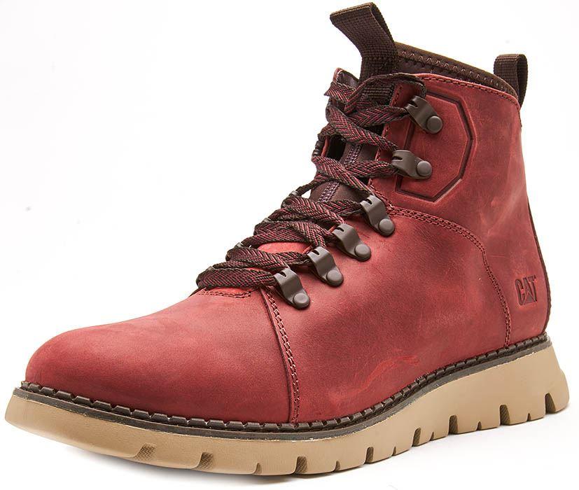 Caterpillar-CAT-Mitcham-Leather-Boots-in-Bronze-Brown-amp-Dark-Red thumbnail 7