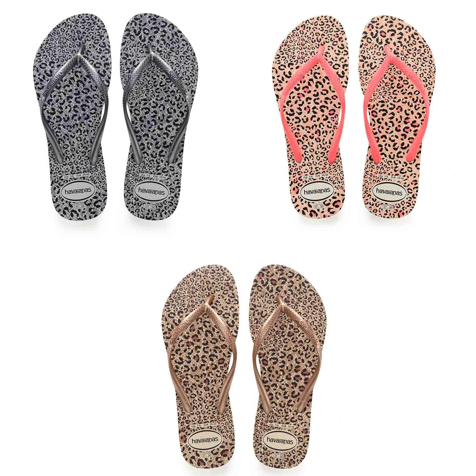 4e98670c7 Details about Havaianas Slim Animals Flip Flops Women Summer Beach Pool Sandals  Animal Print
