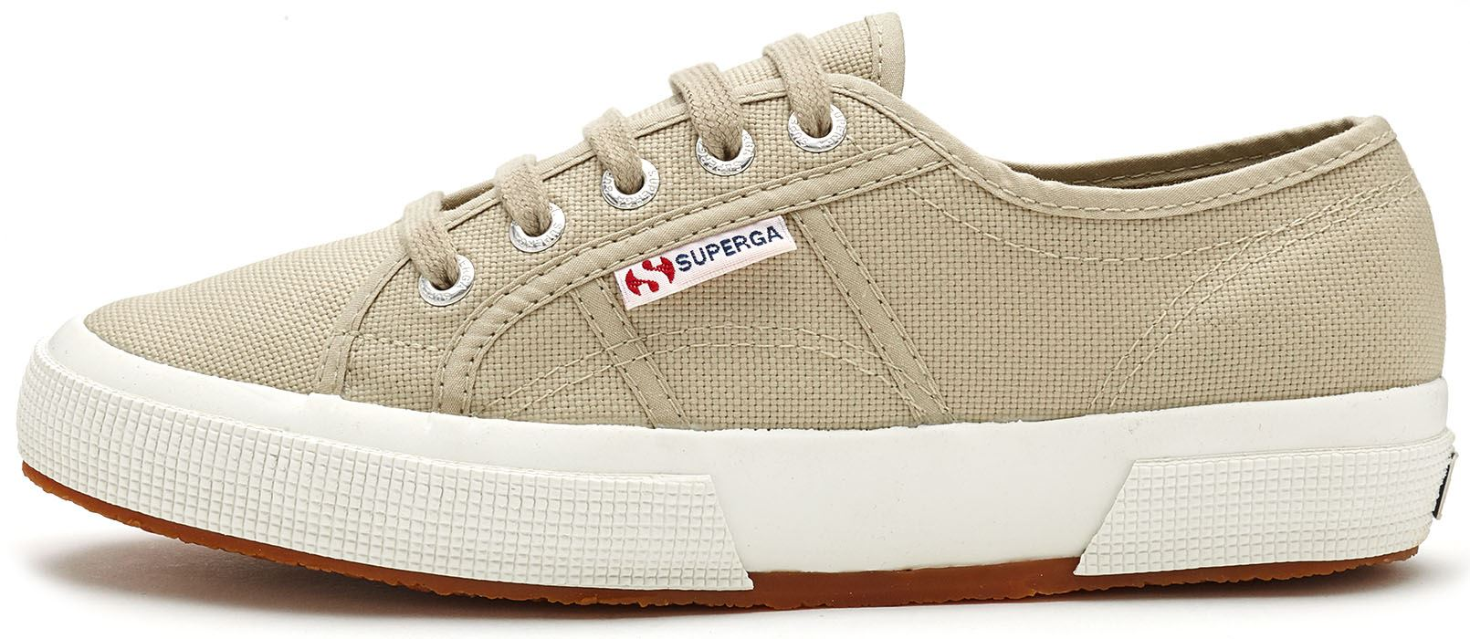 830d8a02ff85 Superga 2750 Cotu Classic Canvas Shoes in White Taupe