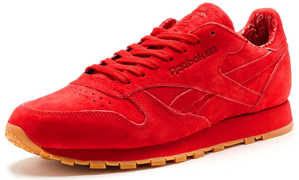 1f69df651d3 ... Reebok Classic Leather Paisley Suede Trainers in Scarlet Red Gum BD3231  ...