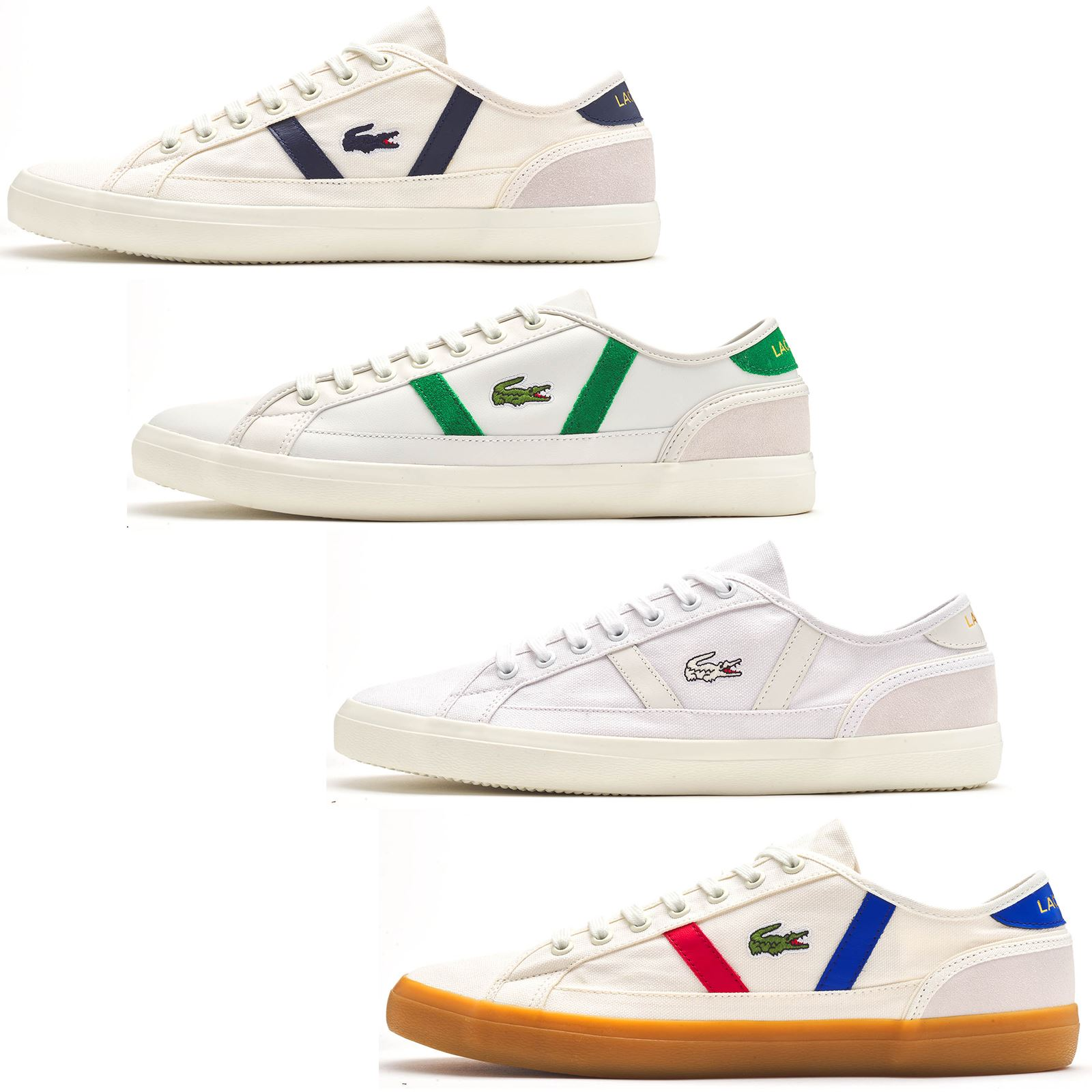 982c2f609d4b Details about Lacoste Sideline 119 CMA Metallic Lettered Heel Canvas    Leather White Trainers