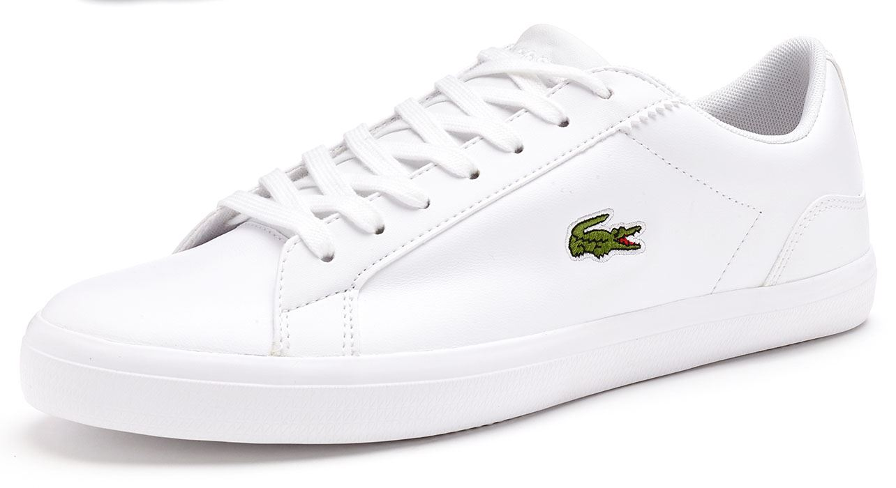8b1a5b027e2a Lacoste Lerond BL 1 CAM Leather Trainers in White 733CAM1032 001
