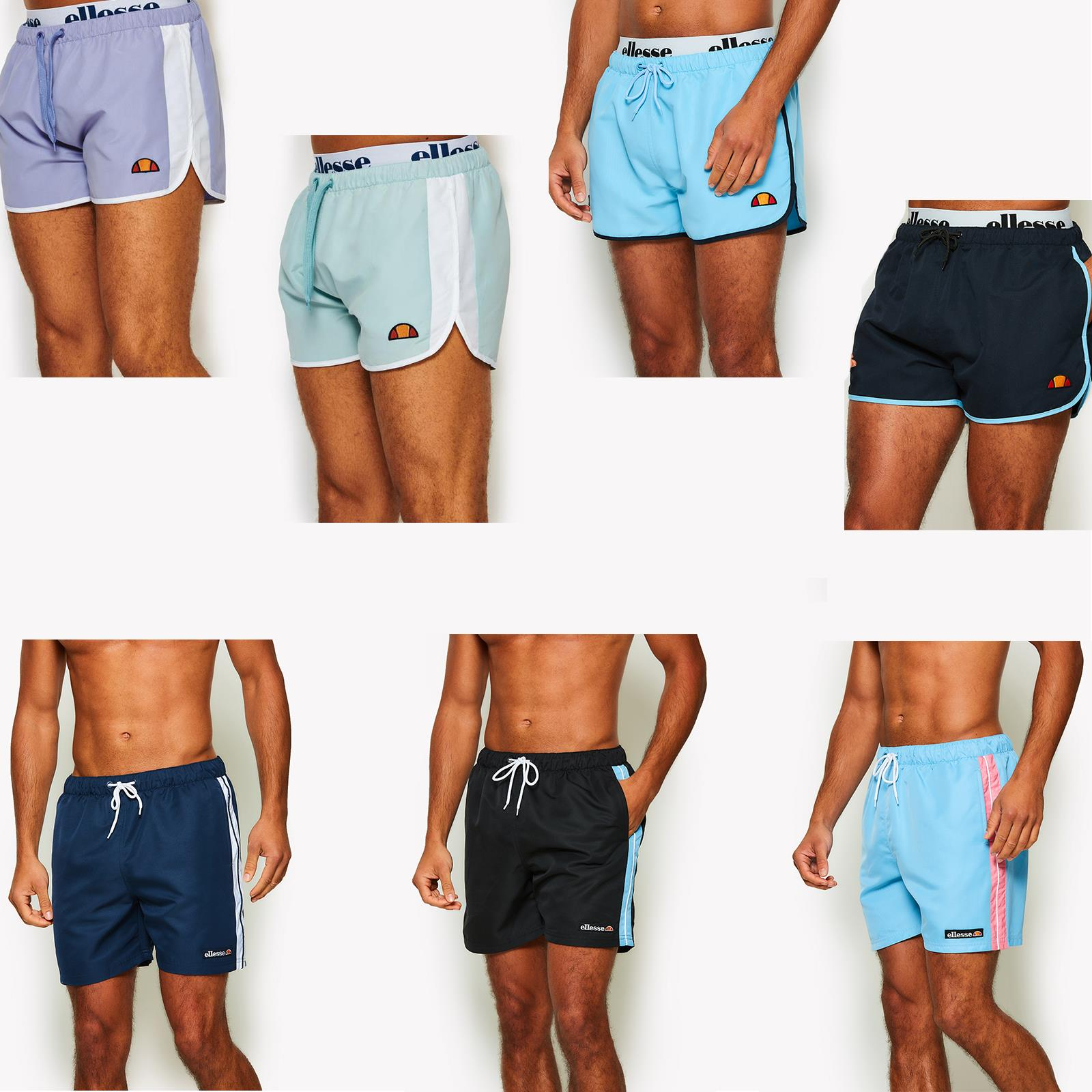 61fab5df53 Details about Ellesse Nasello Beach, Pool Swim Short in Pastel Blue, Pink,  Purple & Black