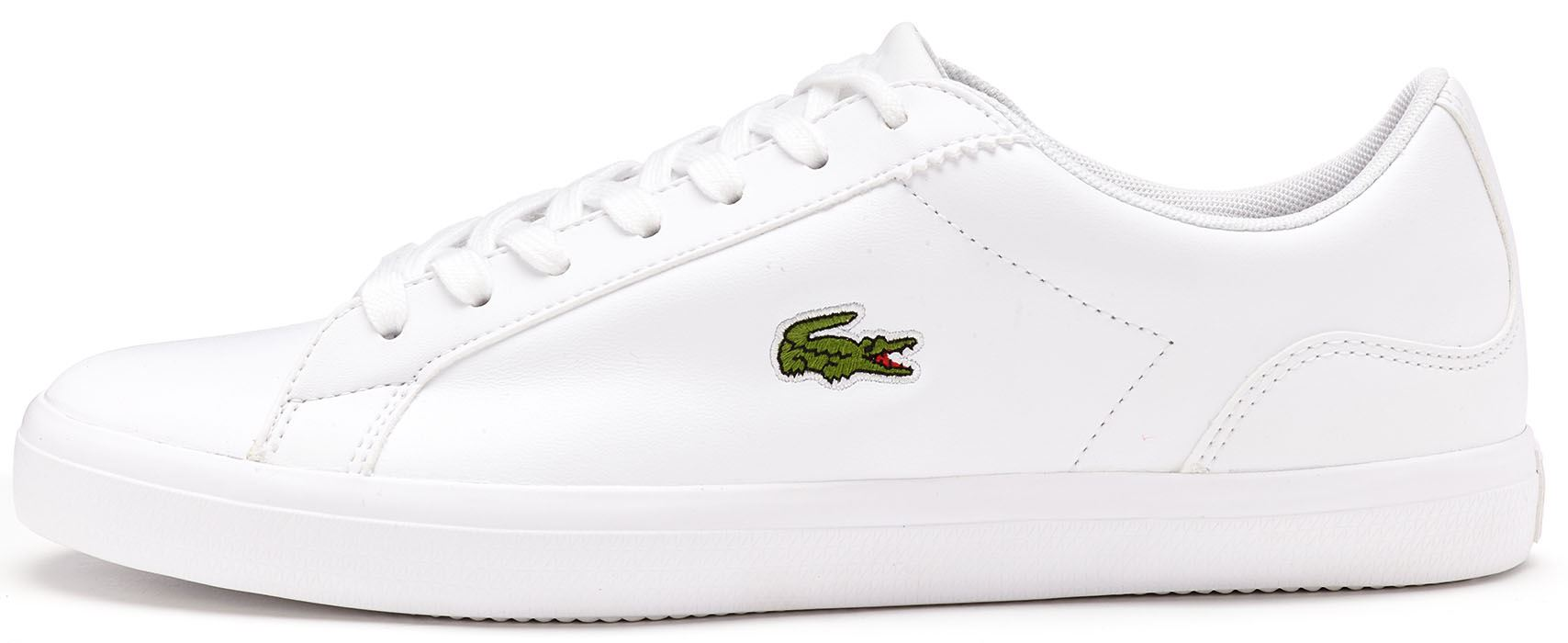6245a58dde3947 Lacoste Lerond BL 1 CAM Leather Trainers in White 733CAM1032 001