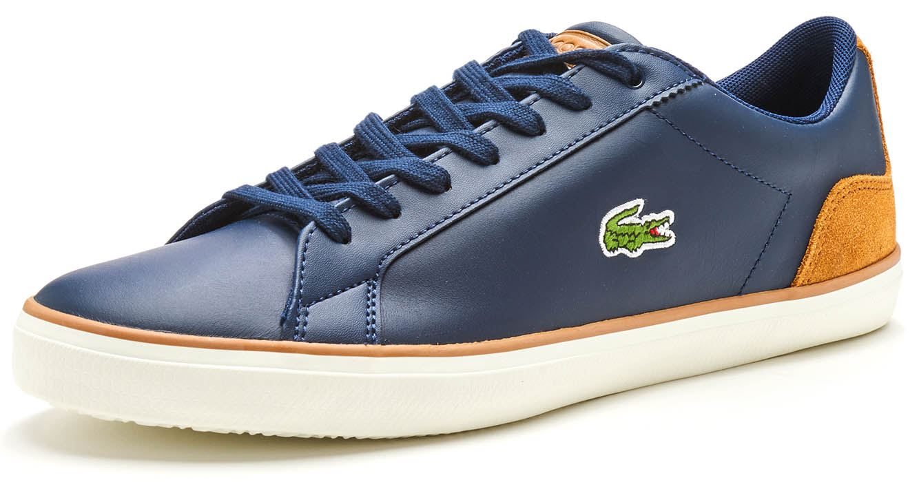 c7cf0a158e47 Lacoste Lerond 118 1 CAM Trainers in Navy Blue   White   Brown in ...