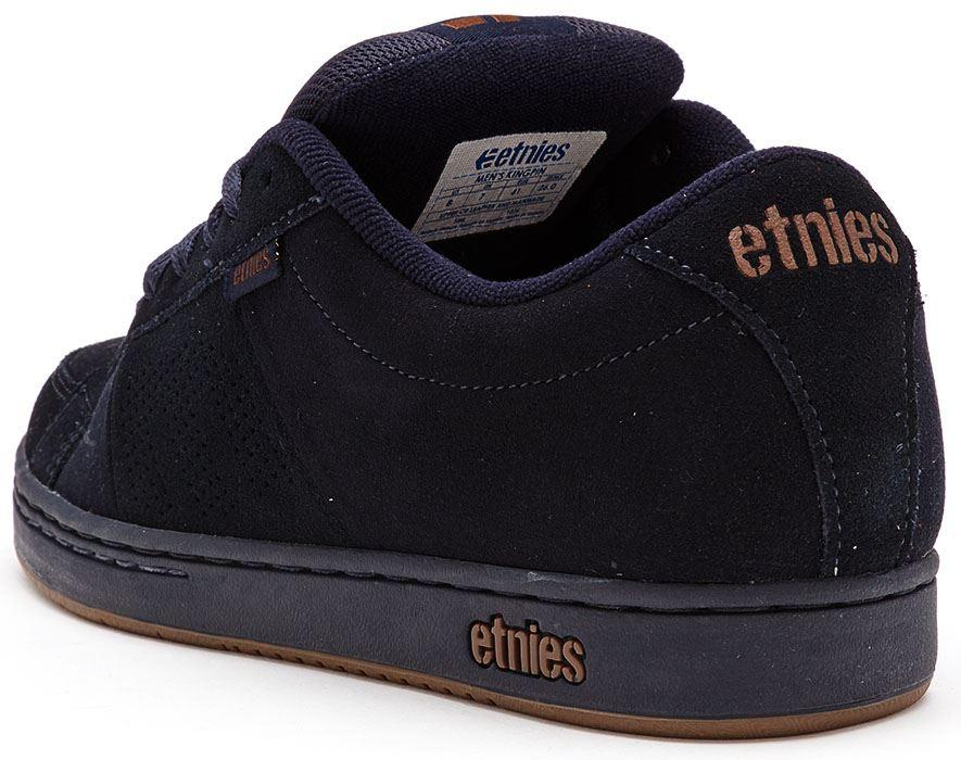 536b028af5cf Etnies-Kingpin-Trainers-in-Black-Grey-Blue-amp-
