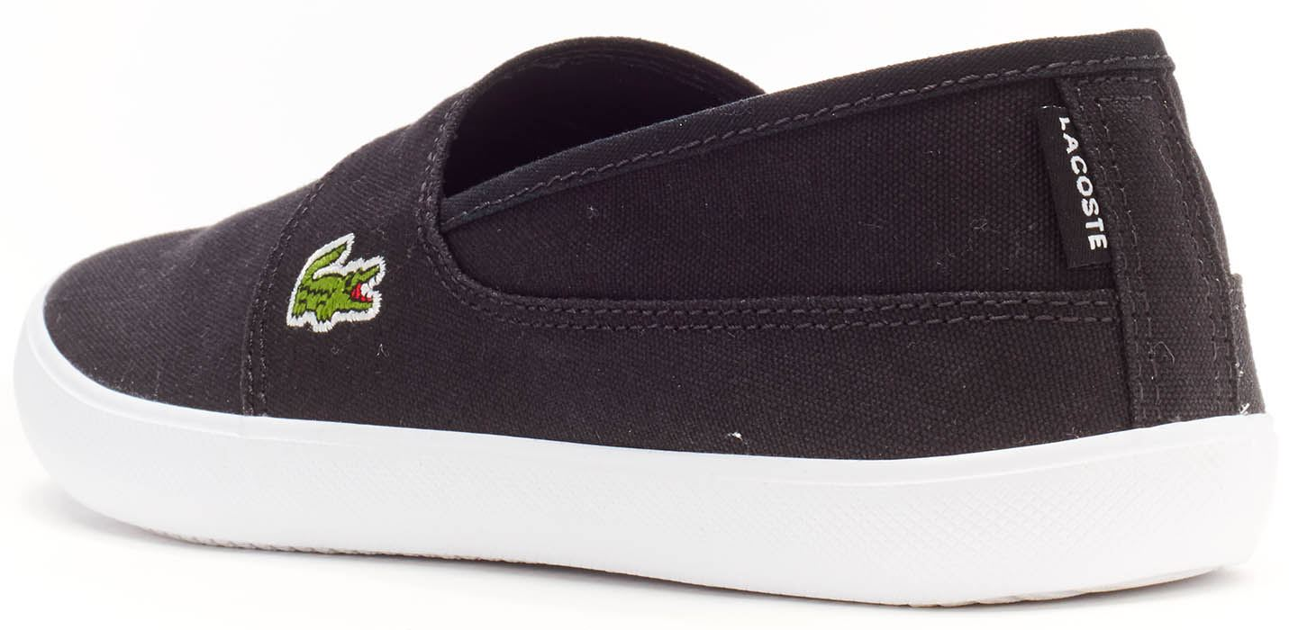 0b5590f3f1cafd Lacoste Marice BL 2 CAM Lace Canvas Slip Ons Trainers in Wide Range ...
