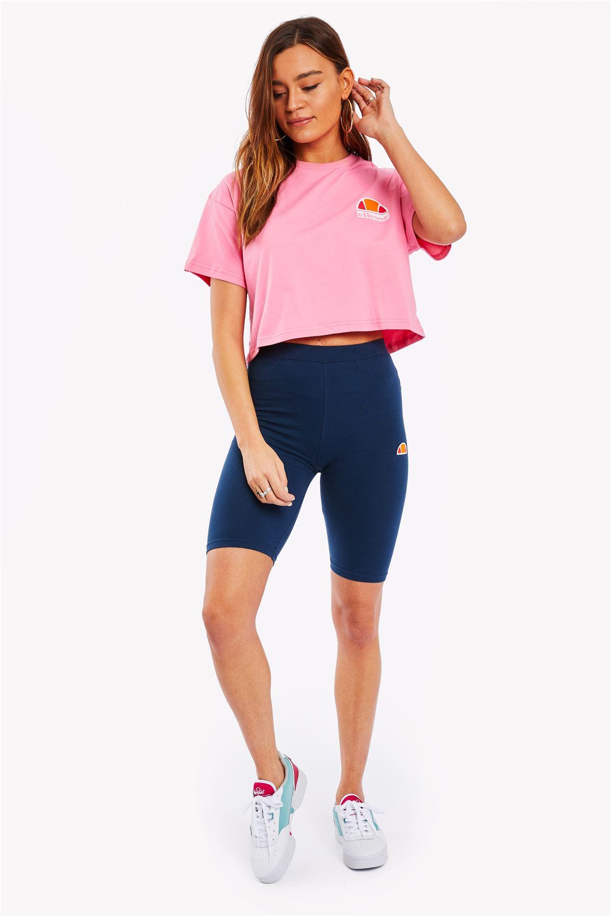 Ellesse-Women-Crop-Cotton-T-Shirt-Summer-Top-in-Pastel-Colours thumbnail 21