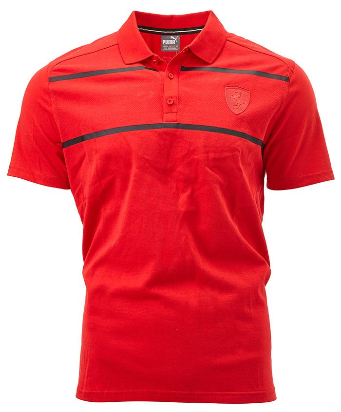 f5d5acec Puma Ferrari Polo Shirt in Rosso Corsa Red & Black 570678 02 | eBay