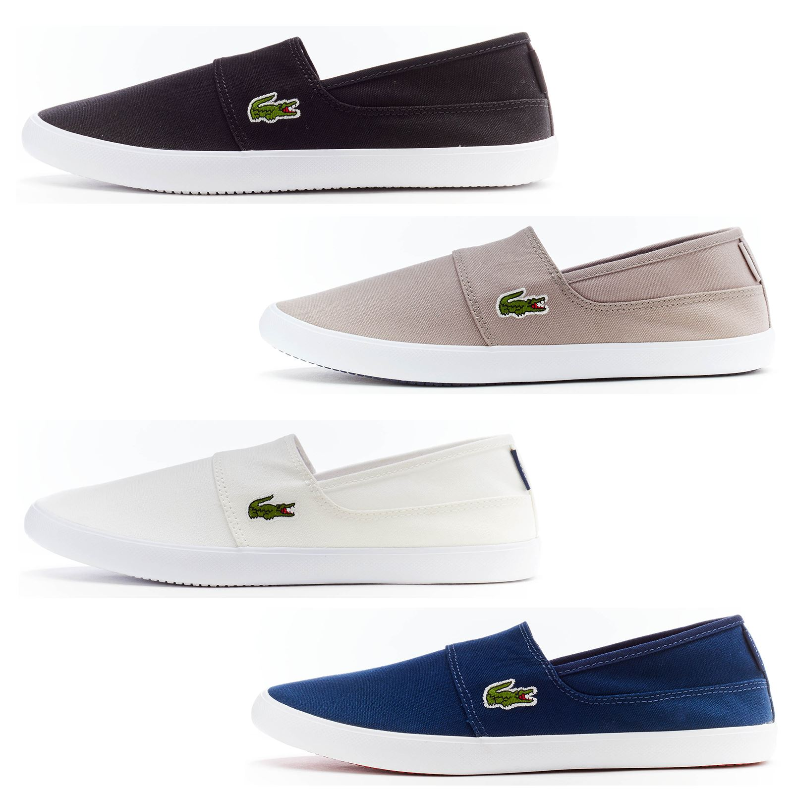 96596fb9c2a9eb Details about Lacoste Marice BL 2 CAM Lace Canvas Slip Ons Trainers in Wide  Range of Colours