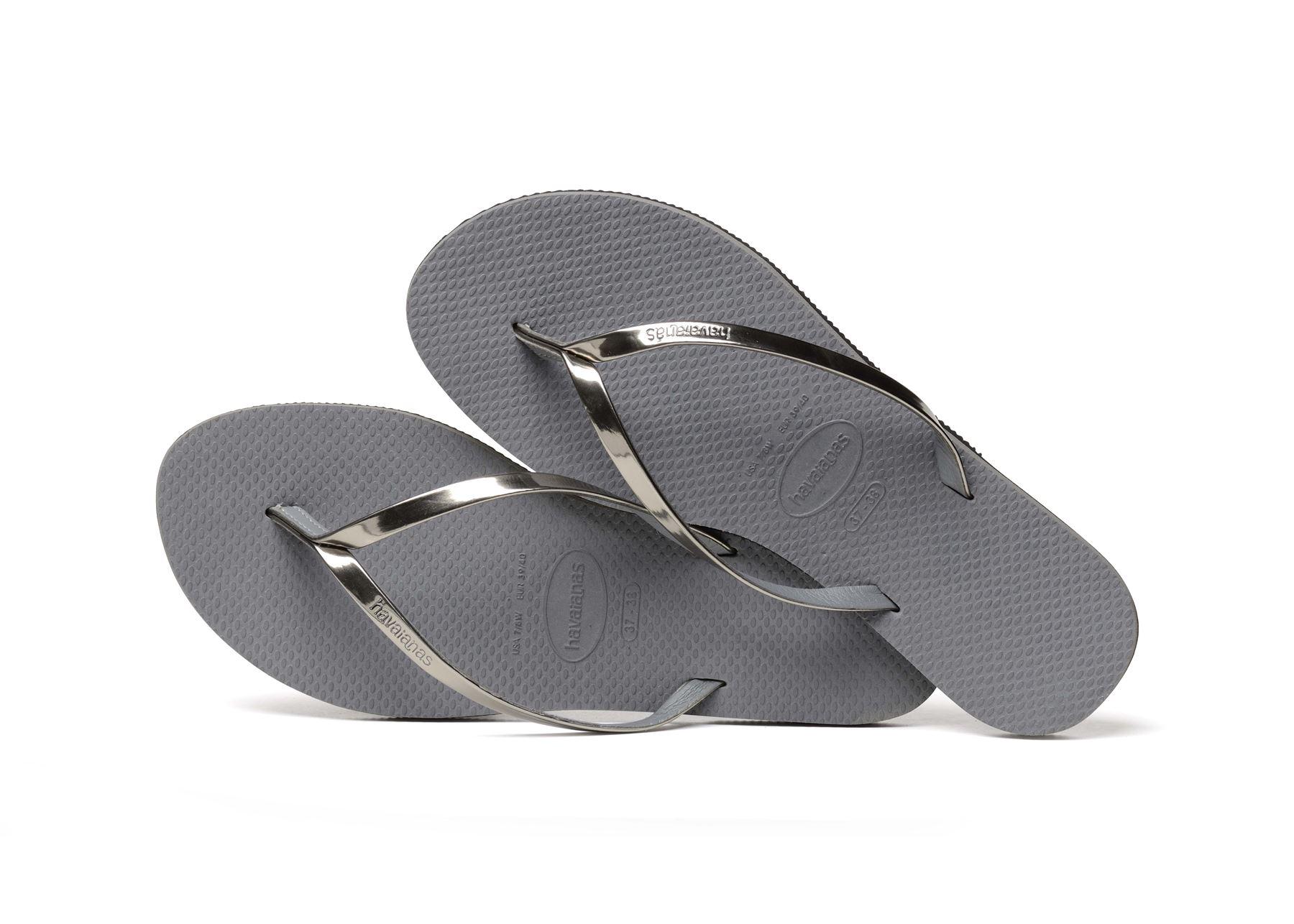 Havaianas-You-Metallic-Flip-Flops-Women-Summer-Beach-Sandals-Wide-Range-Colours miniature 17