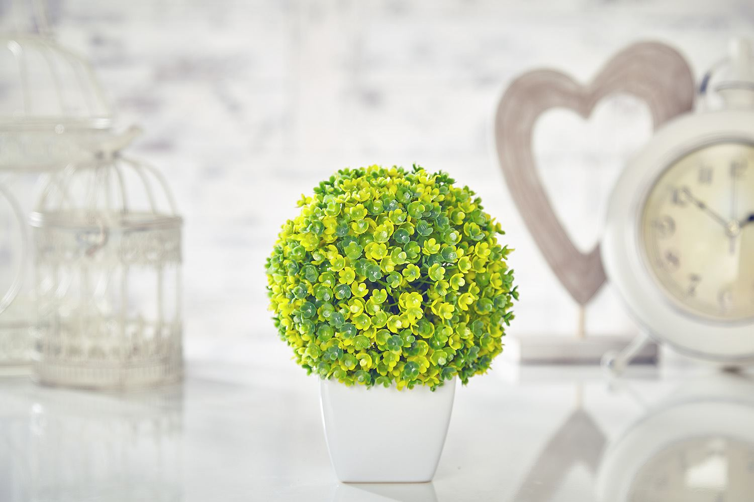 Artificial Topiary Tree Ball Flowers Buxus Boxwood Plants In Pot
