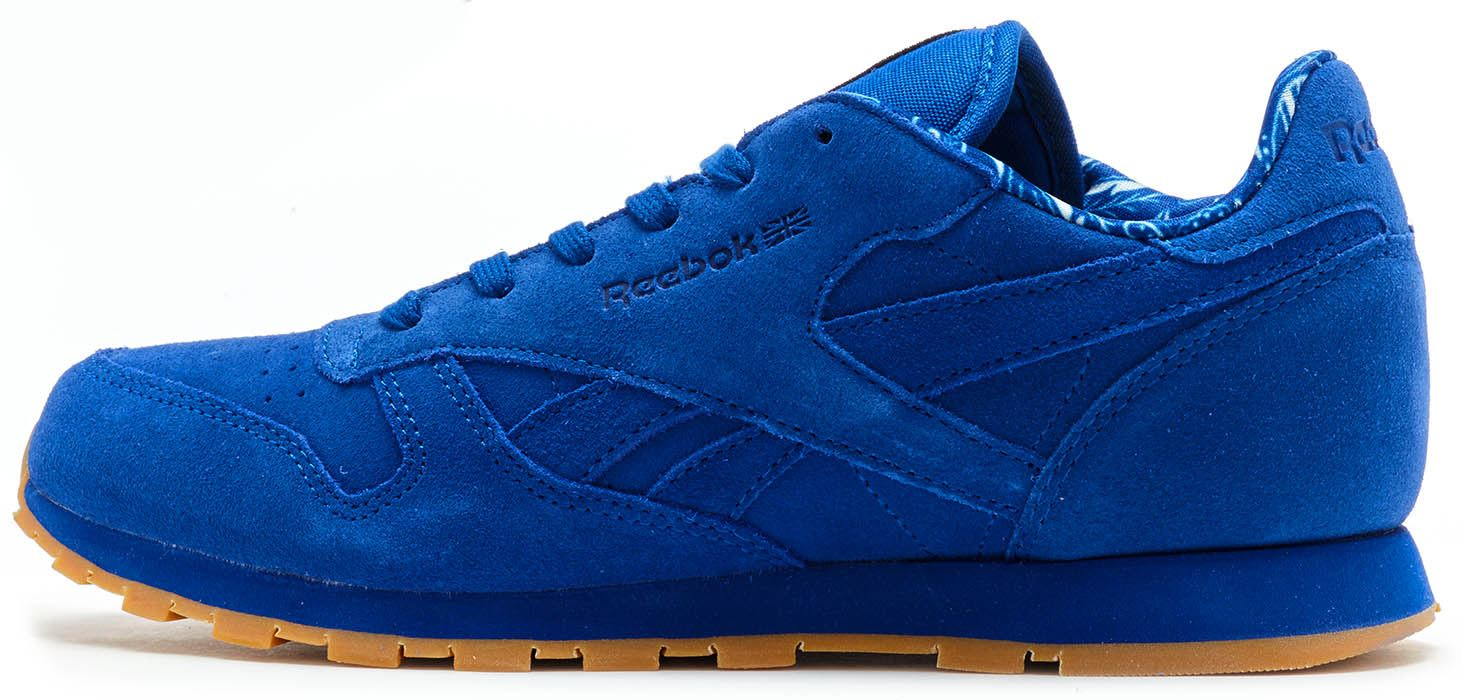 ... Reebok Classic Leather Paisley Suede Trainers in Collegiate Royal Blue  BD3233 ... 9c44da16b