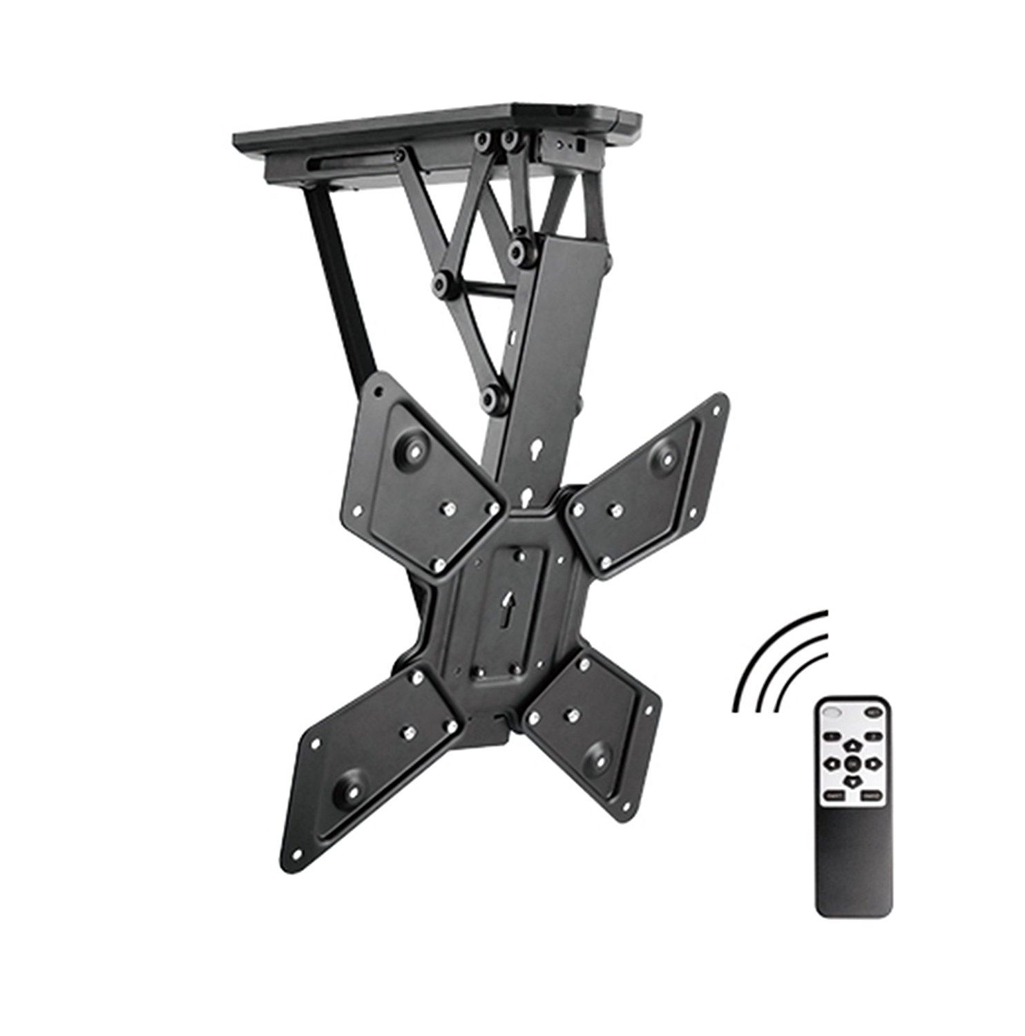 allcam electric motorised tv bracket ceiling mount w storage viewing position ebay. Black Bedroom Furniture Sets. Home Design Ideas