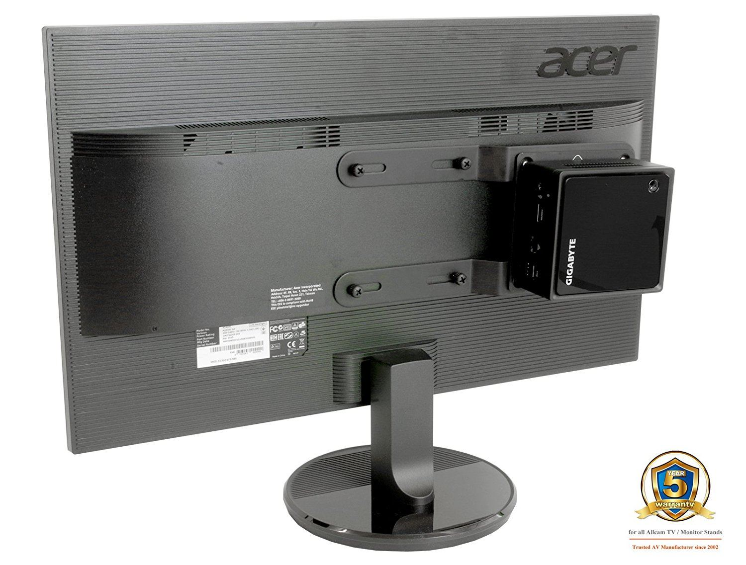 allcam professional nuc mini cpu holder stand vesa mount for mini pc computers ebay. Black Bedroom Furniture Sets. Home Design Ideas