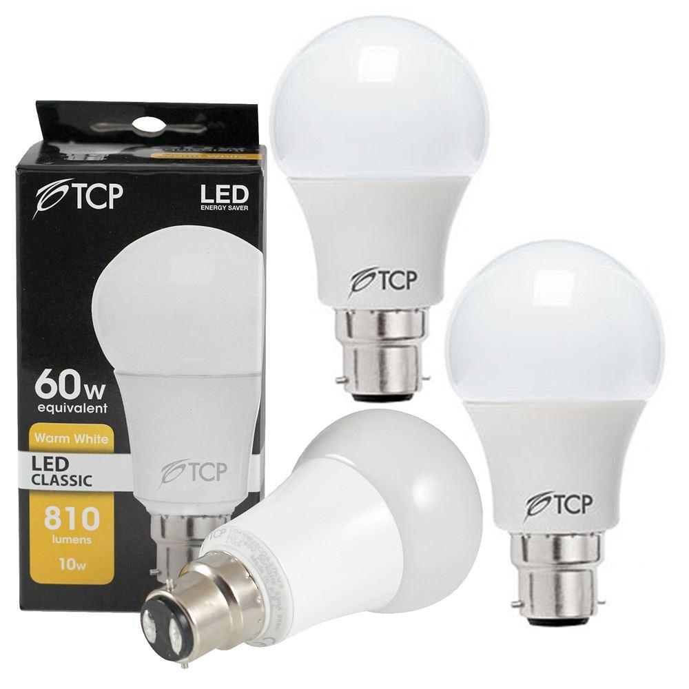 1x-3x-6x-TCP-10W-B22-BC-LED-Light-Bulb-Warm-White-2700K-Ultra-Bright-810-Lumen