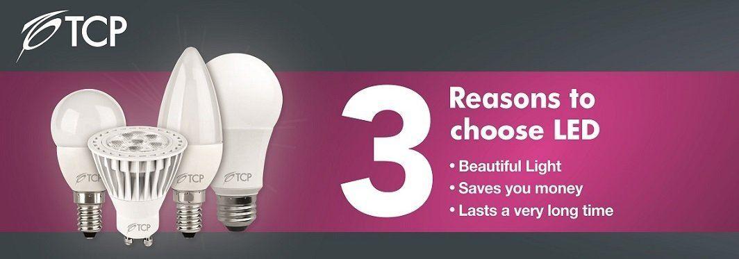 6 Pack: TCP 5W GU10 LED Bulbs Energy Saving 50mm Height, Warm ...
