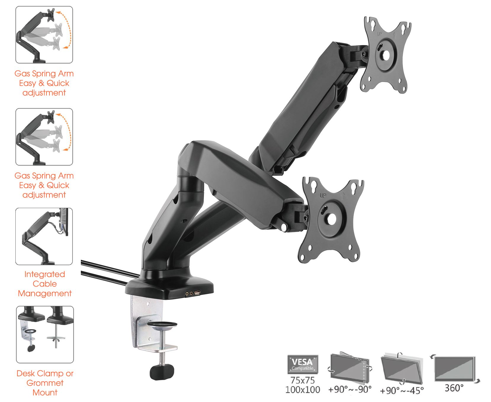 Allcam-Gas-Spring-Desk-Mount-LCD-Monitor-Single-Double-Twin-Arms-Stand
