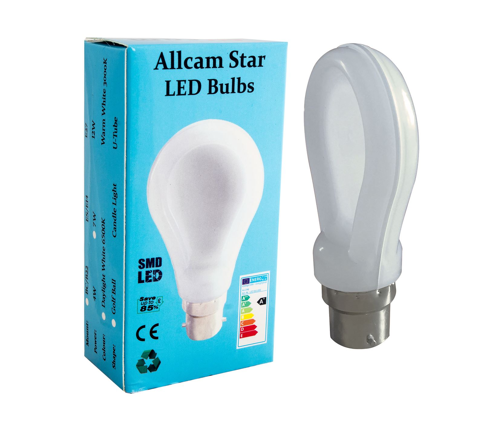 Allcam-Star-7W-B22-Led-Bulbs-600-Lm-70-80W-old-type-Warm-White-Cool-White