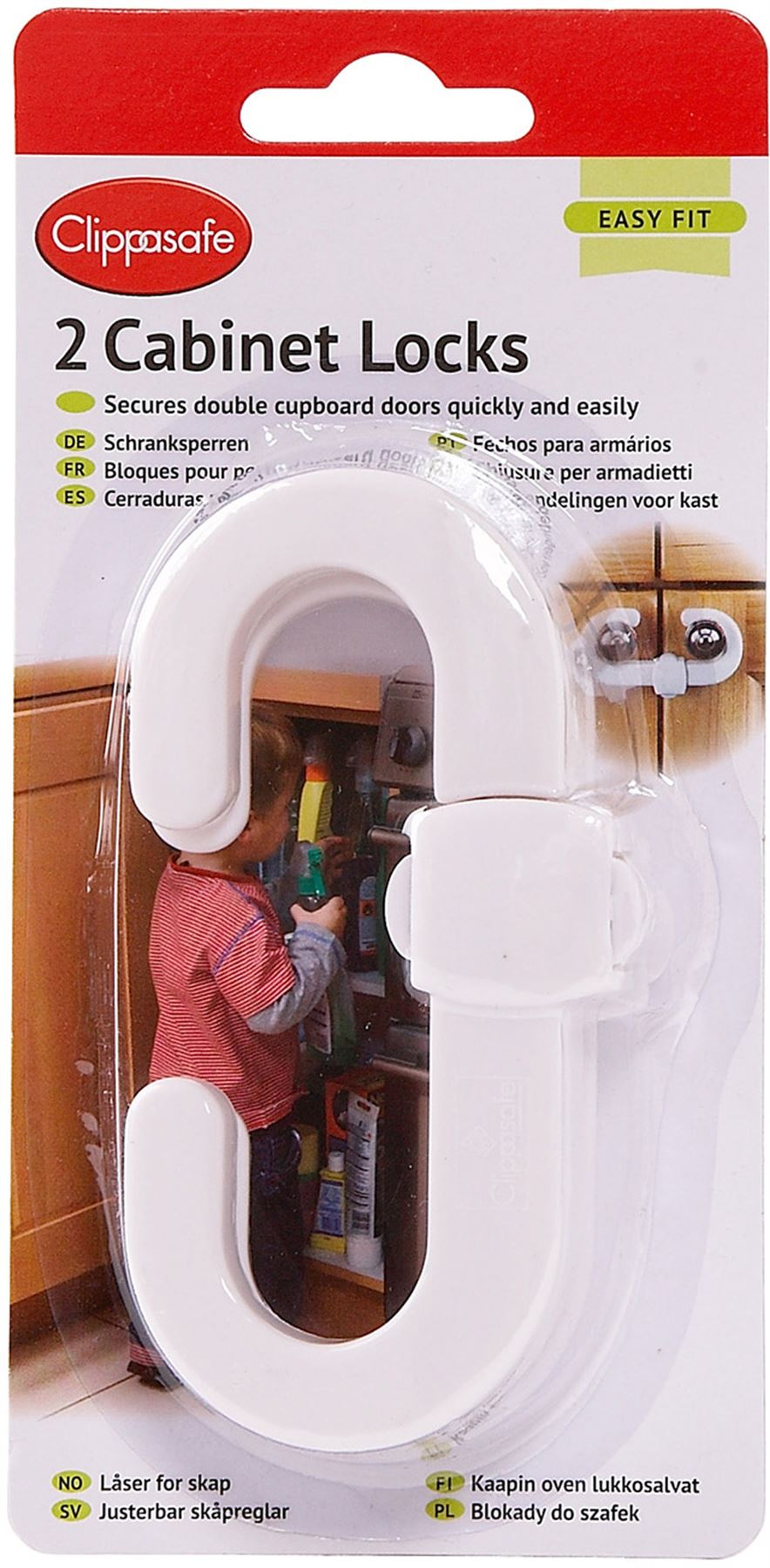 Clippasafe Drawer Lock Safety Guards Protects Child/'s Fingers 3 per Pack
