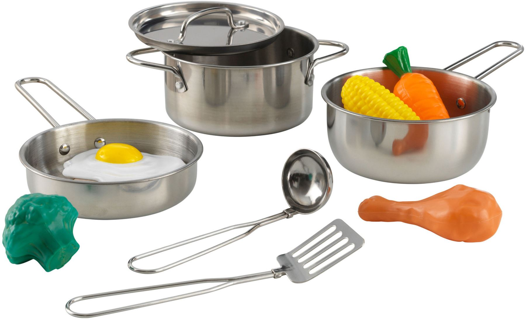 Kidkraft DELUXE COOKWARE SET WITH FOOD Kitchen Accessories Role Play ...