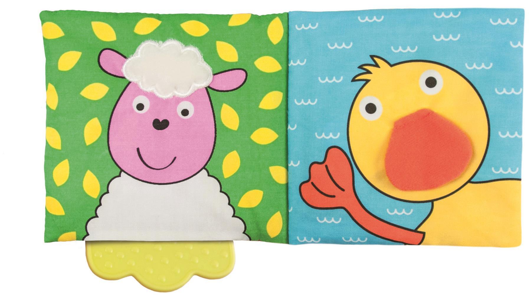 Galt Toys Teether Soft Book Farm