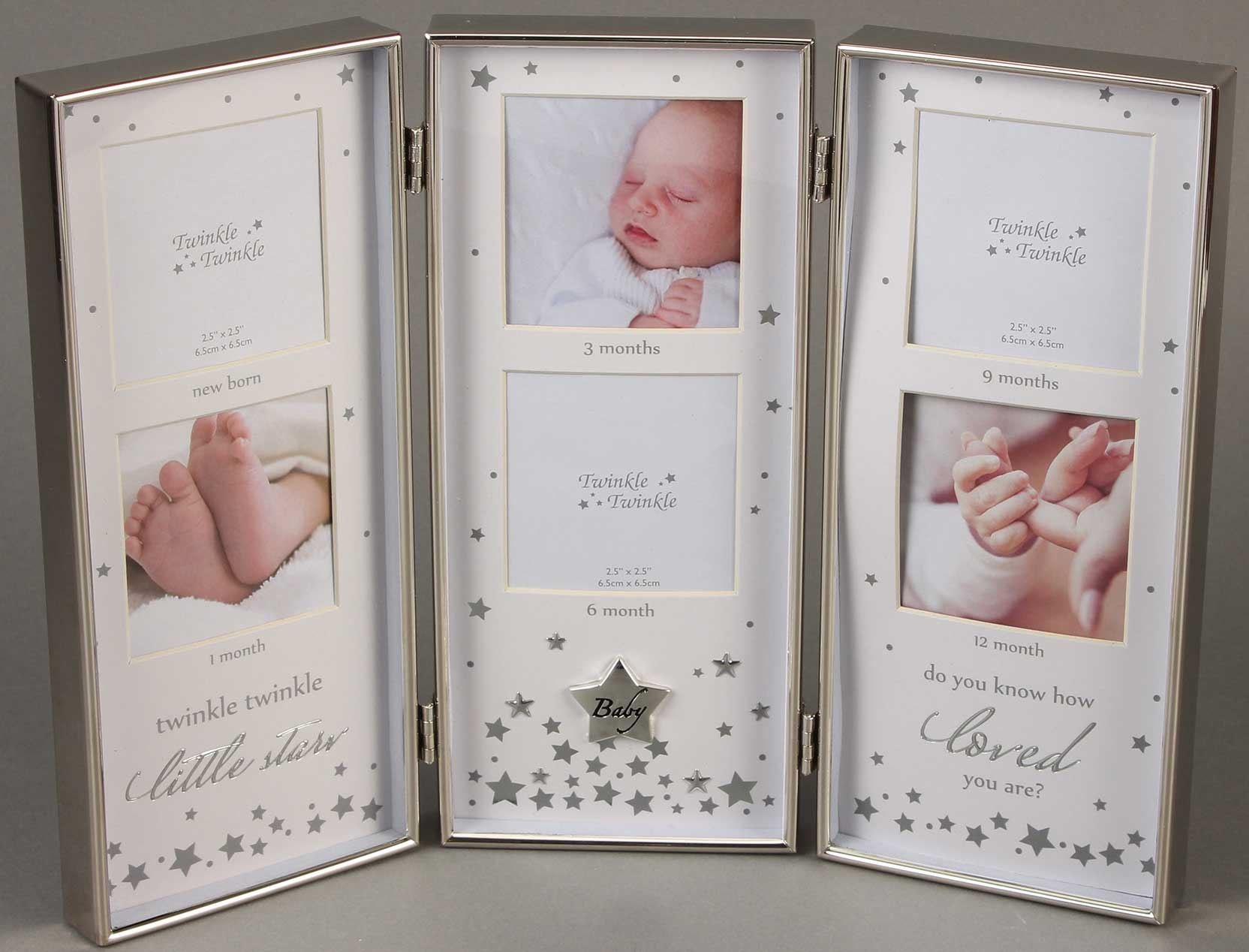 Twinkle Twinkle Girls Boys New Baby Christening Gift Boxed Silver Plated Rattle