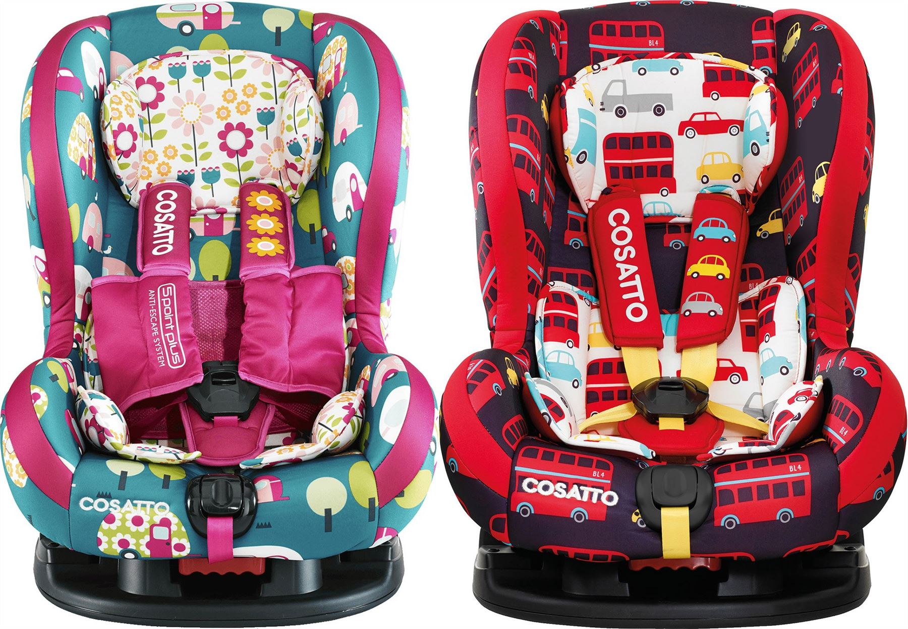 Cosatto MOOVA 2 GROUP 1 CAR SEAT 3 Reclines Travel Safety Baby/Child ...