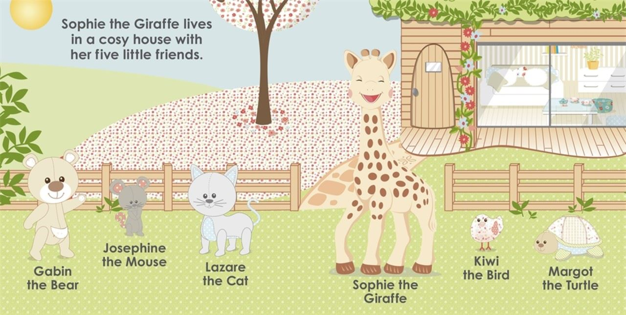 Vulli SOPHIE THE GIRAFFE SOPHIE /& FRIENDS TOUCH AND FEEL BOOK Reading Gift