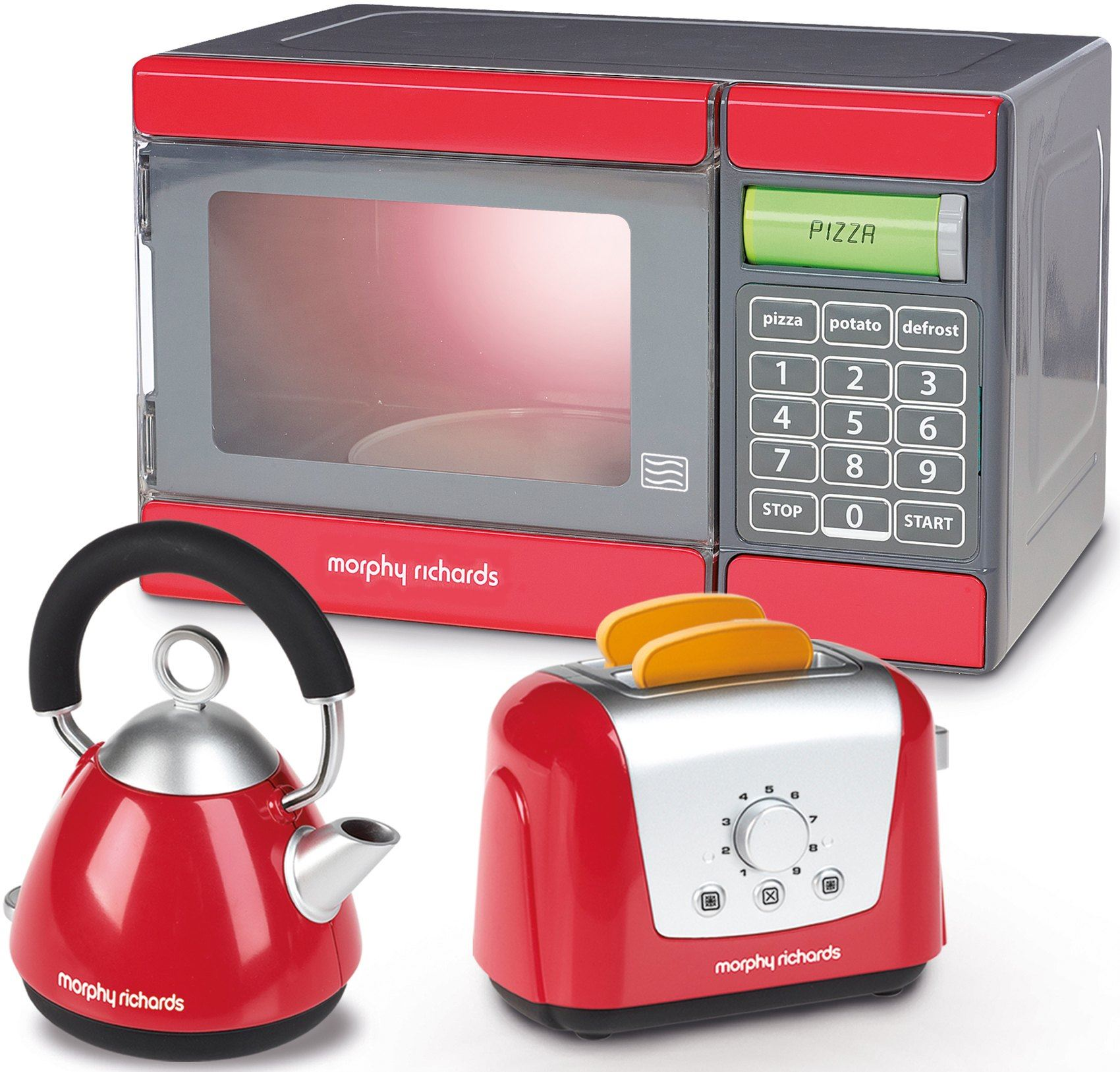 Morphy Richards Microwave: Casdon MORPHY RICHARDS MICROWAVE, KETTLE & TOASTER SET Role Play Kids Toy BN 5011551006804