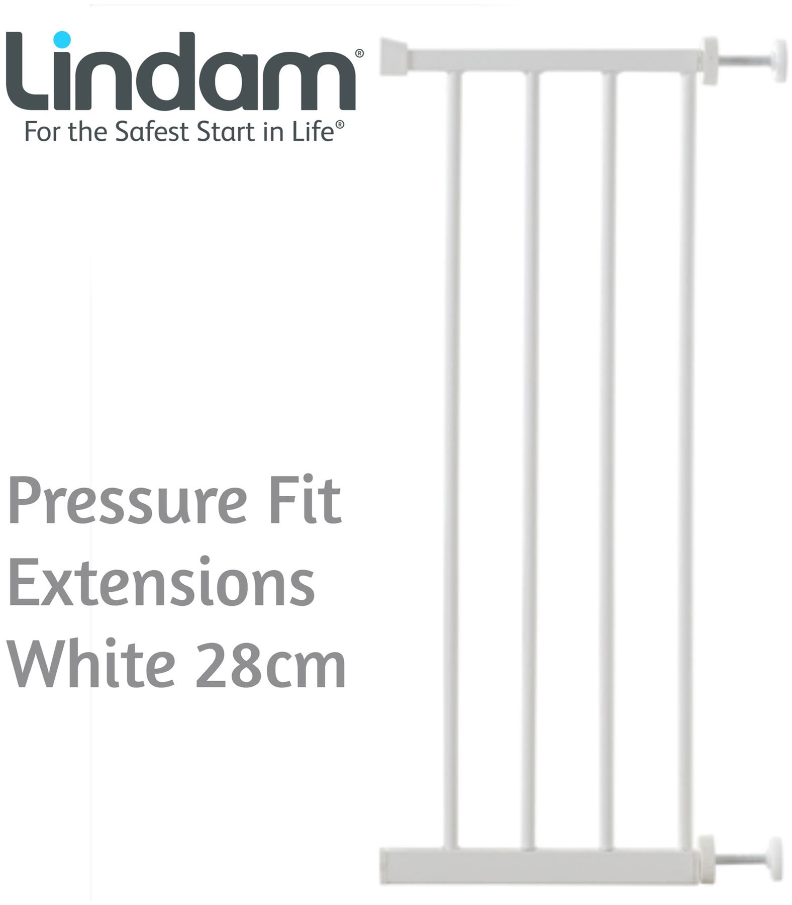 Lindam 14 cm de extensión universal-Blanco eje porte Orto Easy Fit Plus
