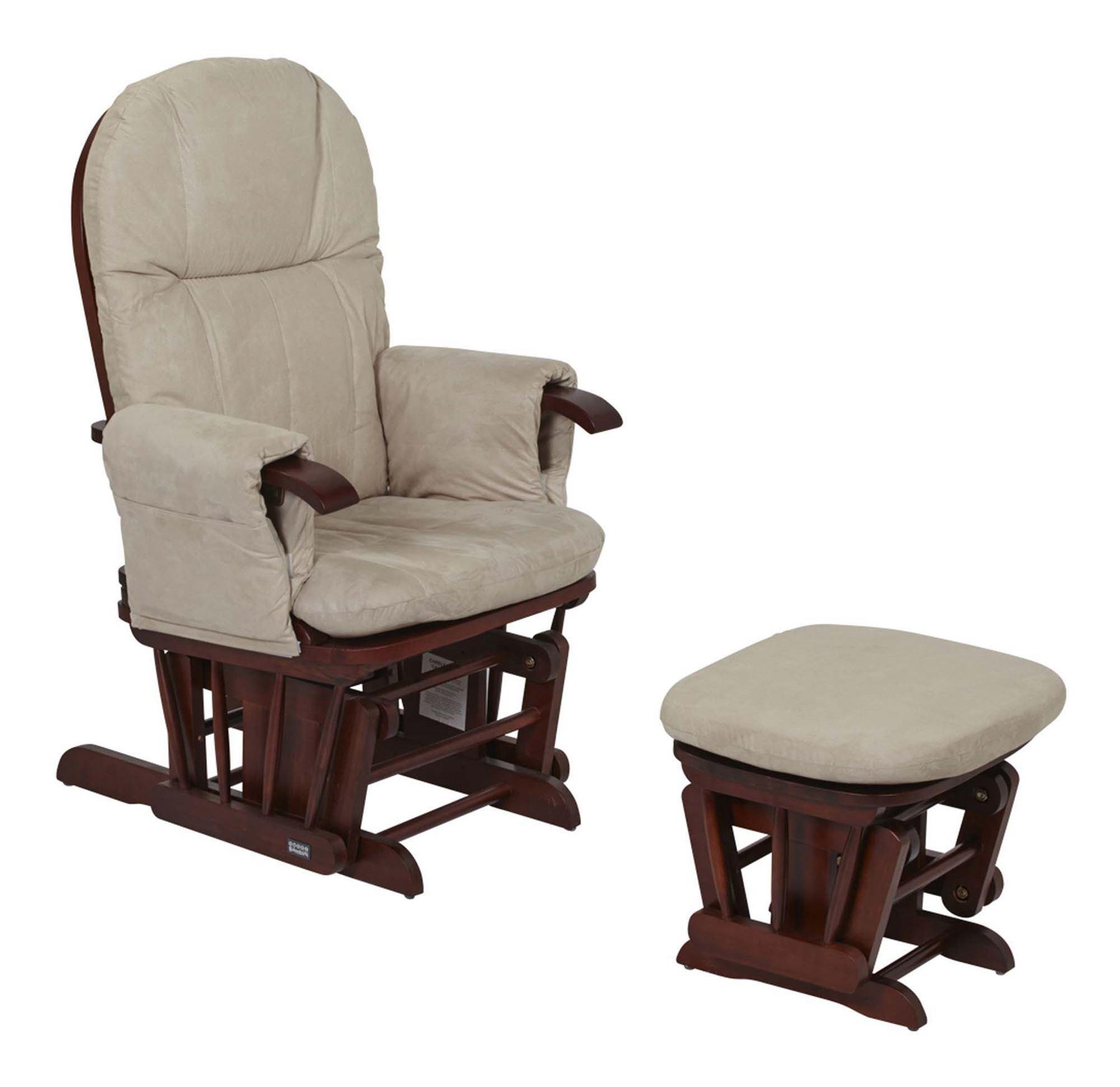 Amazing Details About Tutti Bambini Gc35 Glider Chair Stool Walnut Child Nursery Furniture Bn Squirreltailoven Fun Painted Chair Ideas Images Squirreltailovenorg